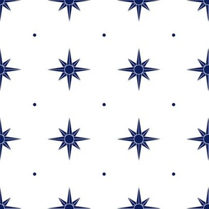 Compass Rose (navy)