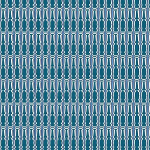 Pillars Teal Upholstery Fabric