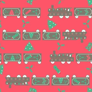 #SAGE Christmas Train Red