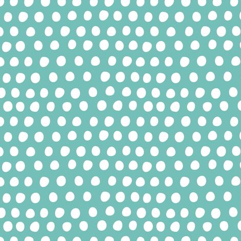 Circus Balloon Polka Dots Tiny Aqua fabric by bzbdesigner on Spoonflower - custom fabric