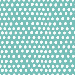 Circus Balloon Polka Dots Tiny Aqua