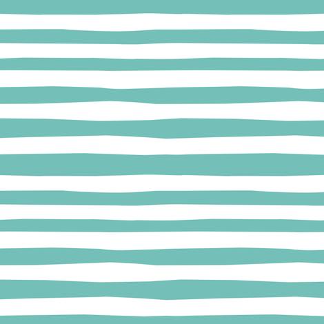 Circus_Stripe_Jumbo_aqua fabric by bzbdesigner on Spoonflower - custom fabric