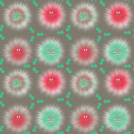 #SAGE Christmas Warm Fuzzy  fabric by karwilbedesigns on Spoonflower - custom fabric