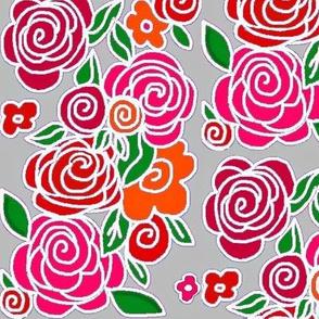 Francheska's Rose Garden -grey