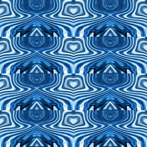 "Abstract ""Blue Eyes"" Upholstery Fabric"