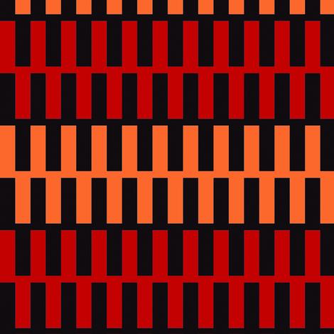 Zipper Orange and Red Upholstery Fabric fabric by llukks on Spoonflower - custom fabric