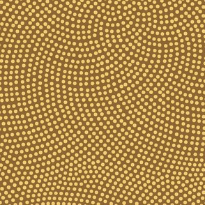 Fibonacci-flower polkadots - gold on wheat