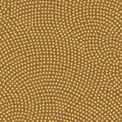 Fibonacci-scallop polkadots - gold on wheat