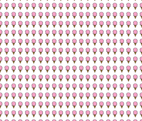 aloha small cone pink fabric by alohababy on Spoonflower - custom fabric