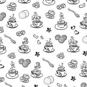 tea time / black on white background
