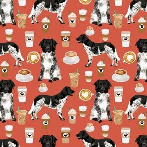 stabyhoun fabric coffee and dogs design coffee and dogs stabyhoun stabij design - burnt orange