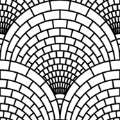 06595132 : scale brick mosaic : outline