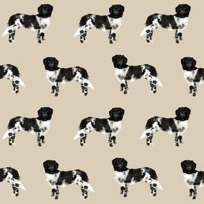 stabyhoun dog fabric stabij dog design - sand