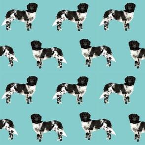 stabyhoun dog fabric stabij dog design - blue tint