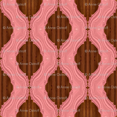 Fractal Adobe Trellis on Wood