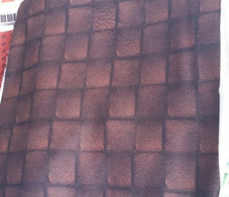 Dark Chocolate Leather Weave