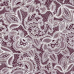 lace // plum
