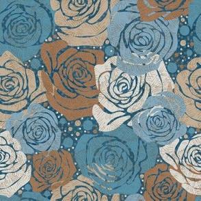 Rose Dot - Blue