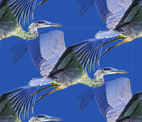 Flight of the Herons fabric by floramoon on Spoonflower - custom fabric