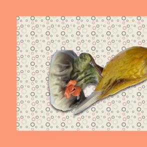 Yellow Warbler tea towel