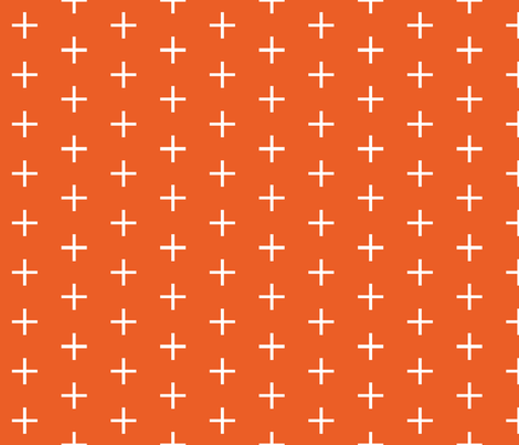Skinny Plus // tangerine fabric by ivieclothco on Spoonflower - custom fabric
