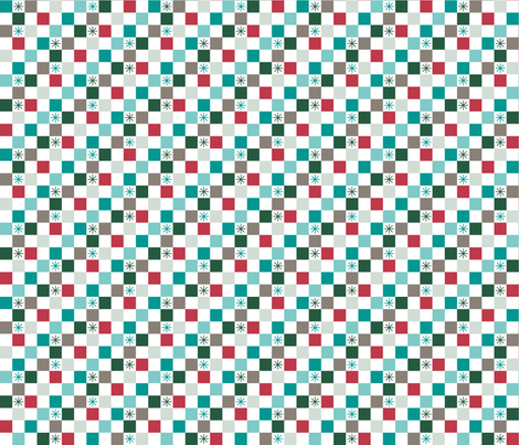 Checkered Christmas (Festive) fabric by brendazapotosky on Spoonflower - custom fabric
