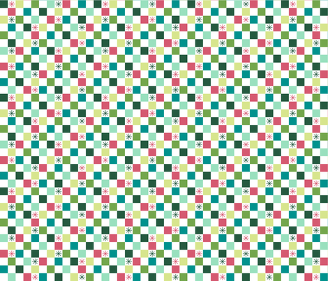 Checkered Christmas (Merry) fabric by brendazapotosky on Spoonflower - custom fabric