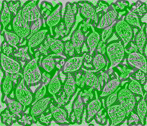 GREEN_LEAVES fabric by soobloo on Spoonflower - custom fabric