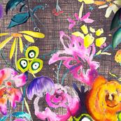 June Floral // Linen - LARGE
