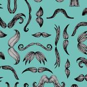Moustache Mayhem (turquoise)