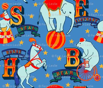 Alphabet Animals - Blue