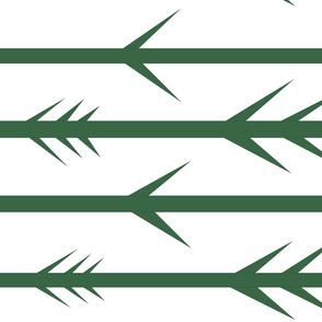 Green spike fletching arrows