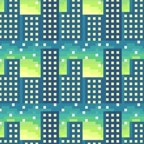 Pixel City Sunrise