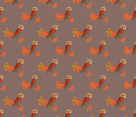 Friendly Owls Faces fabric by nancy_lee_moran_designs on Spoonflower - custom fabric