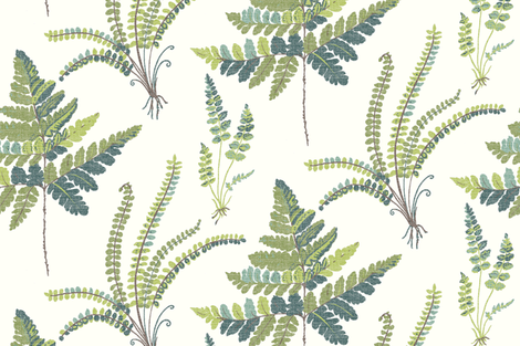 Fern Botanical  fabric by melissahyattfabrics on Spoonflower - custom fabric