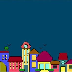 pastel cityscape