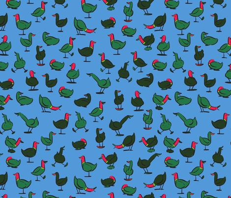 Teach Me How To Ducky: Blue fabric by brooke_elayyne on Spoonflower - custom fabric