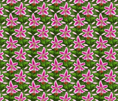 stargazer_and_buds_watercolor_4 fabric by leroyj on Spoonflower - custom fabric