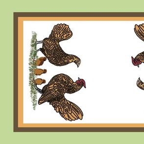Golden_sebright_family_tea_towel