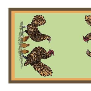 Golden_sebright_family_tea_towel_2