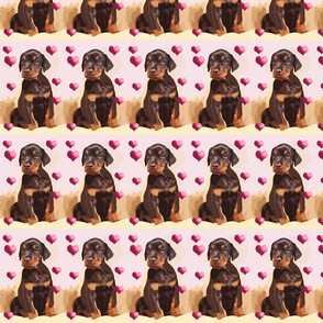 doberman_puppy_and_hearts