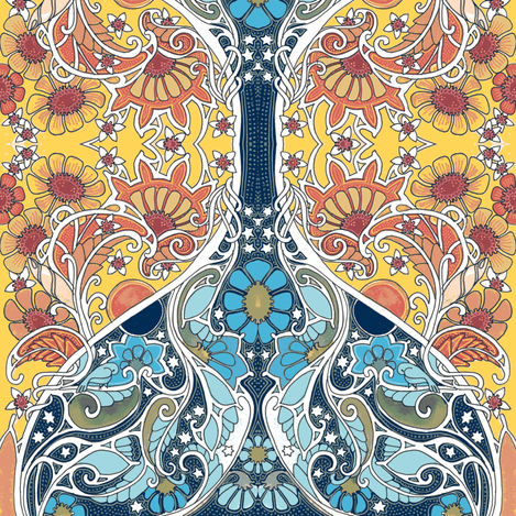 Day Turns to Night fabric by edsel2084 on Spoonflower - custom fabric