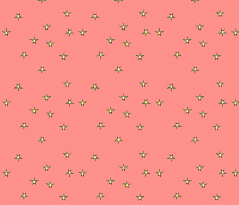 Beachside stars on Coral fabric by ecologies on Spoonflower - custom fabric