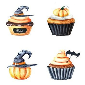 Halloween Cupcake Doodles