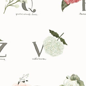 Garden Flowers Alphabet