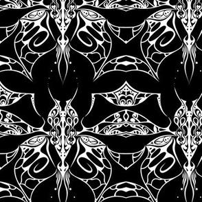 Interlocked Butterfly on Black