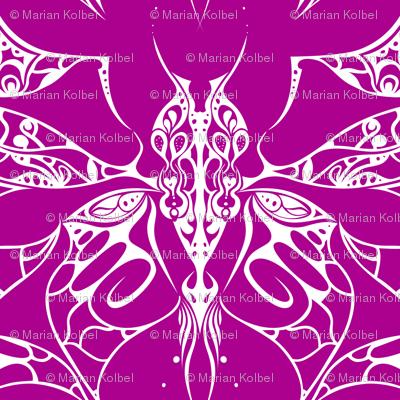 Interlocked Butterfly on Fushia