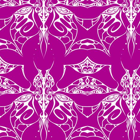 Interlocked Butterfly on Fushia fabric by mkdesignsandthings on Spoonflower - custom fabric