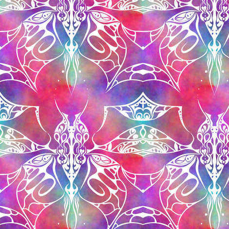 Tribal Plasma Butterfly fabric by mkdesignsandthings on Spoonflower - custom fabric