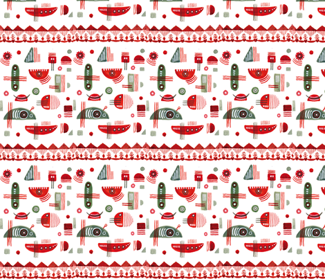 with_a_smile-01 fabric by c_o_k on Spoonflower - custom fabric